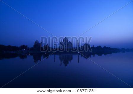 Taj Mahal in twilight, Agra, India