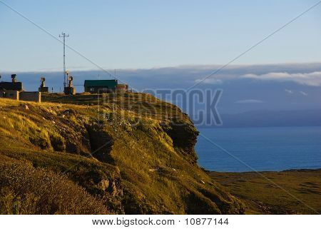 Meteorological Station On The Coast Of The Arctic Ocean