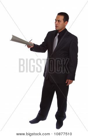 Businessman Giving File