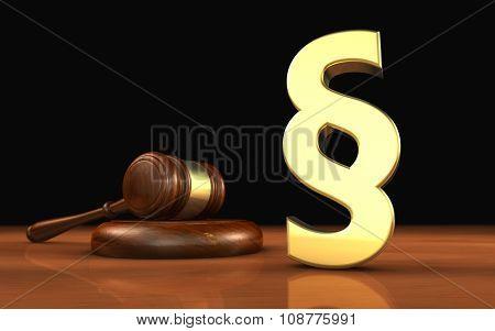 Paragraph Symbol Law Concept