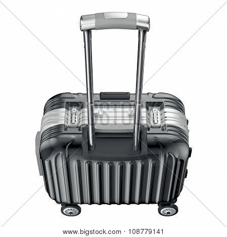 Luggage with handle, top view
