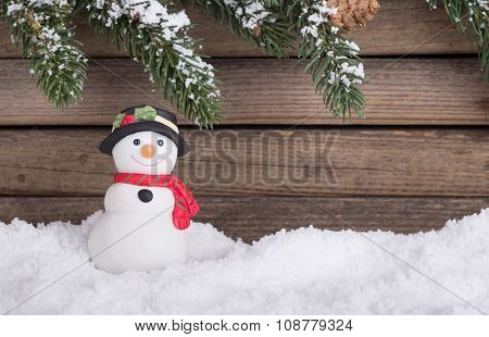 Holiday Snowman Figurine