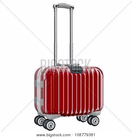 Red luggage for travel