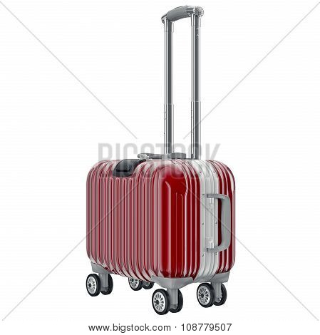luggage travel red