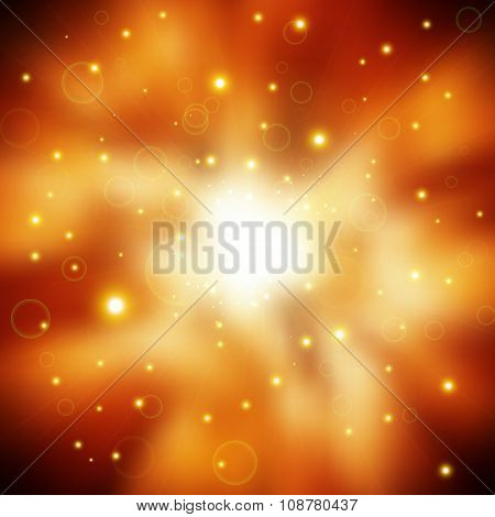 Glitter Lights Background. Christmas Lights Concept.