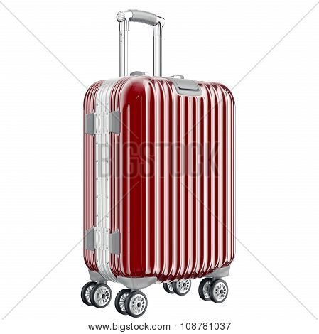 Big red luggage