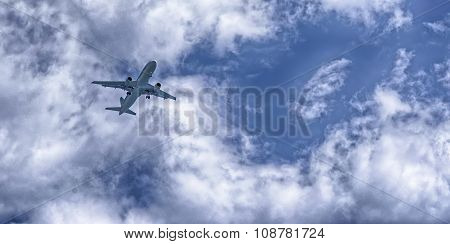 A Plane Landing In A Airport