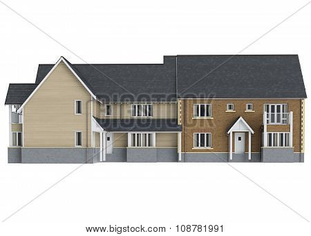 Large two storey villa, front view