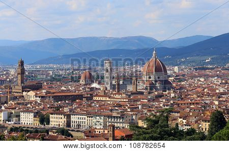 Italy Florence Perfect Panoramic View Everything In Focus