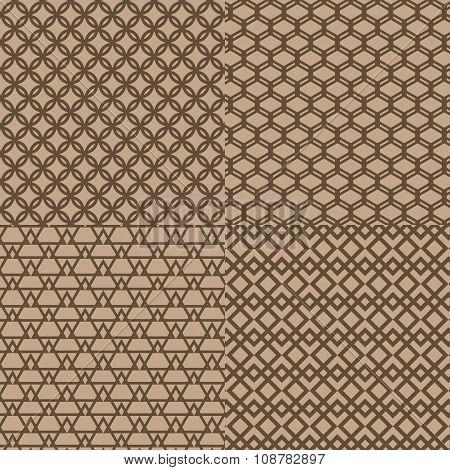 Seamless Brown Trellis Pattern Background