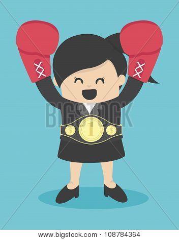 Business Woman The Winner