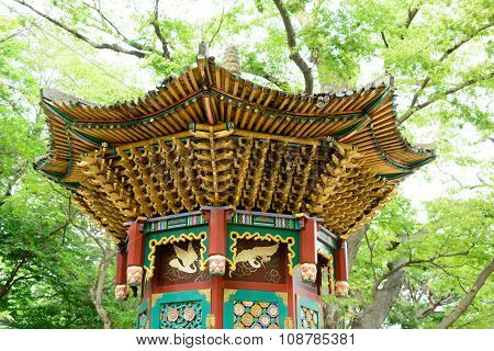 Ganghwa-gun, Korea - August 17, 2015: Rotating Sutra Case