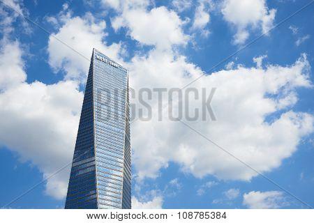 Songdo, Korea - September 07, 2015: Northeast Asia Trade Tower