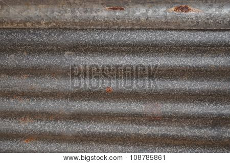 Abstract Galvanized Iron Roof