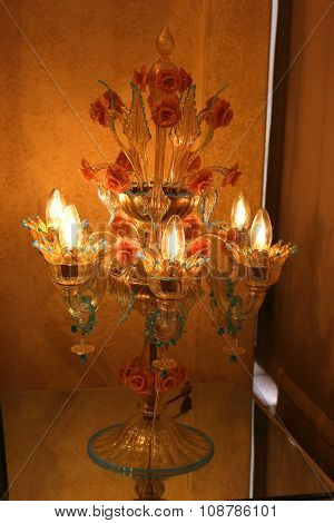 Murano Glass Lamp In Italy