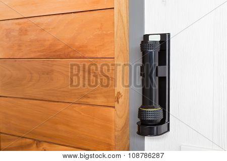 Emergency Flashlight At Door For Urgent Case