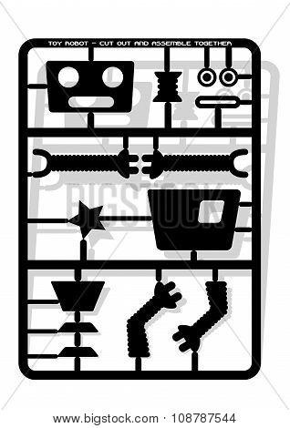 Robot Parts Cut Out And Assemble Template For Children .