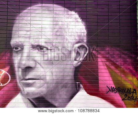 Street art Pablo Picasso