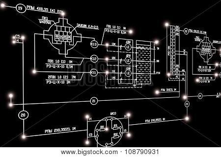 Electrical industrial scheme