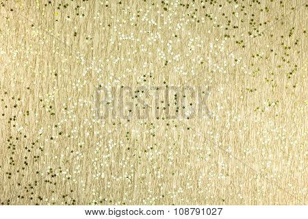 Christmas Background With Gold Glittery Stars