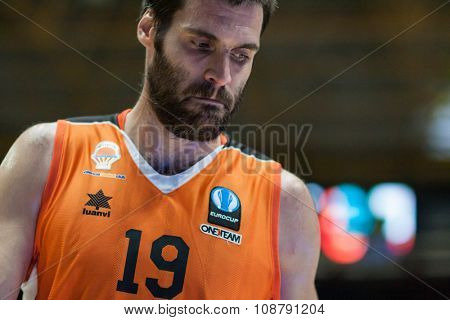VALENCIA, SPAIN - NOVEMBER 18th: San Emeterio during Eurocup between Valencia Basket Club and Sluc Nancy at Fonteta Stadium on November 18, 2015 in Valencia, Spain