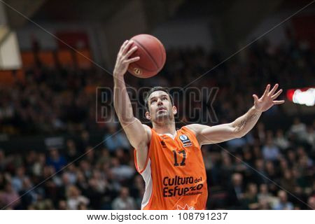 VALENCIA, SPAIN - NOVEMBER 18th: Martinez during Eurocup between Valencia Basket Club and Sluc Nancy at Fonteta Stadium on November 18, 2015 in Valencia, Spain