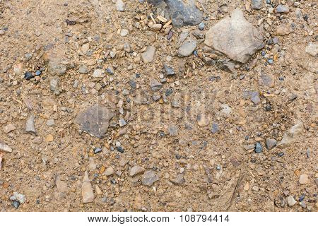 background, texture and nature concept - close up of brown ground