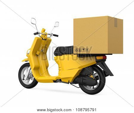 Yellow Motorcycle Delivery Box