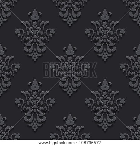 Elegant luxury texture black with shadows