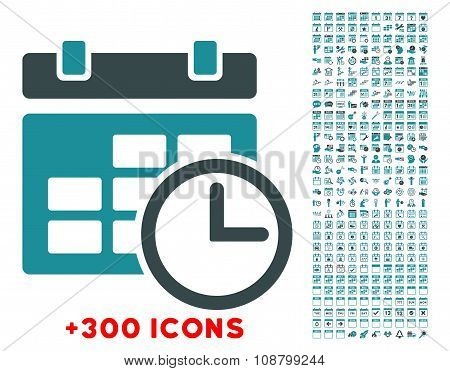 Date And Time Flat Icon