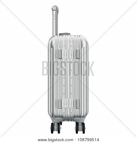 Suitcase for travel, side view