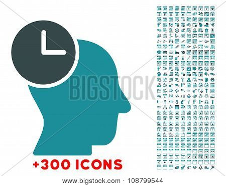 Time Thinking Flat Icon