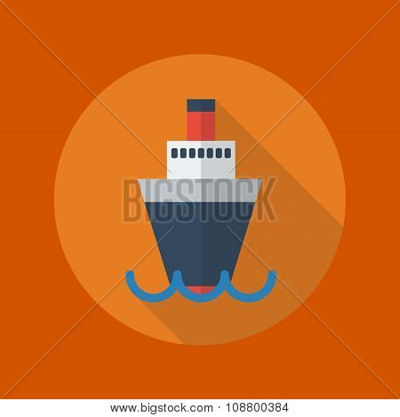 Transportation Flat Icon. Ship
