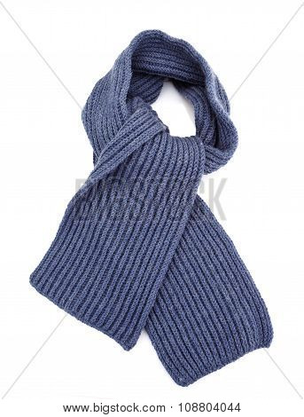 grey scarf isolated
