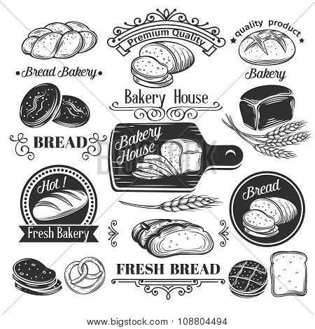 Decorative bread bakery label