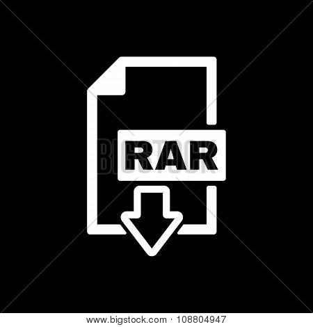 The RAR file icon. Archive and compressed symbol