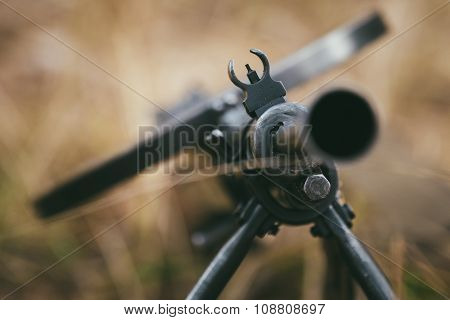 Soviet russian military ammunition - machine gun of World War II