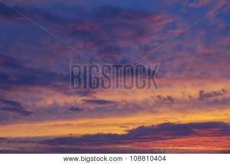 Sunset Sky Background In Soft Pastel Colors