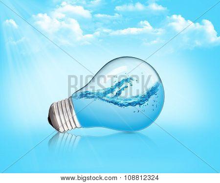 Lightbulb With Water Inside