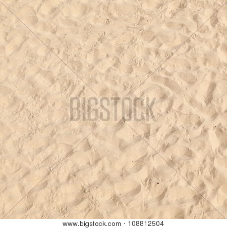 Pattern Of Fine Sand By Nature At The Beach