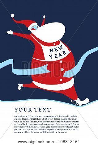 Lucky Santa?hristmas greeting card