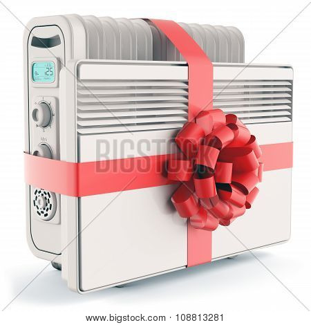 Heaters With Red Ribbon And Bow