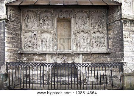 TALLINN ESTONIA- JUNE 16:Saint Olav's church(Oleviste) Saint Maria chapel cenotaph the founder Hans