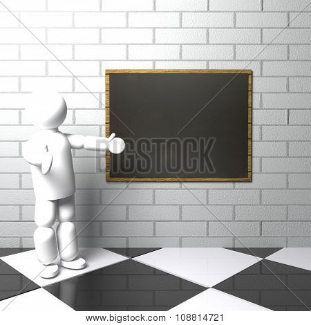 Teacher With Blackboard