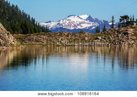Ann lake and mt.Shuksan, Washington