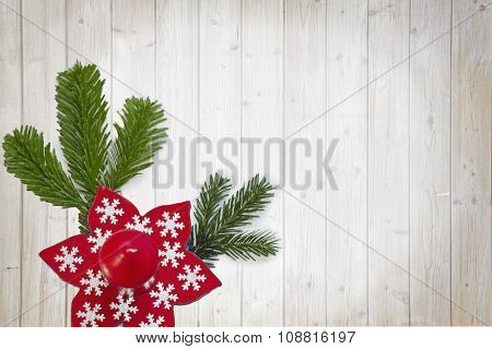 Advent Decoration On Wooden Table With Planks