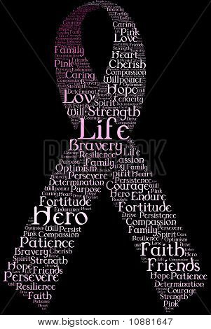 Typography Pink Ribbon
