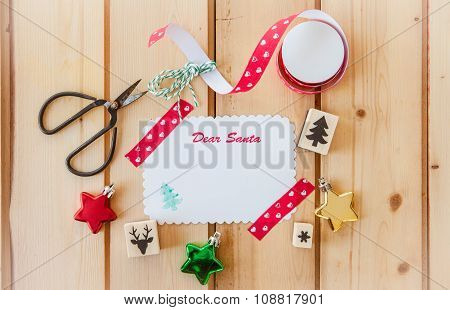 Blank Card For Christmas