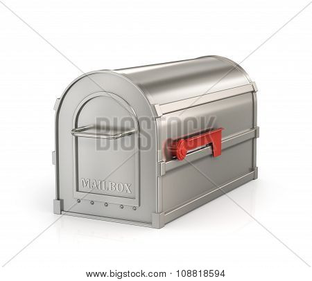 Private (closed)  Mailbox Isolated On White Background