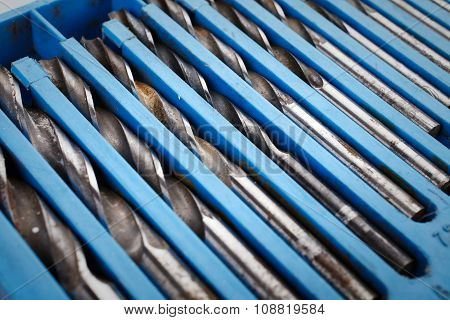 Drill bit set in box